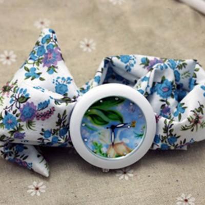 Orologio Fiocco Fiori Fatina Trilly e foulard decorato a Fiori