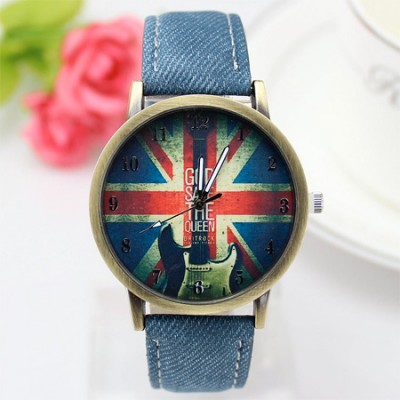 orologio god save the queen London style blue