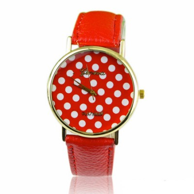 orologio donna geneva pois rosso