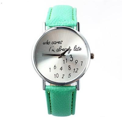 who cares i'm already late verde menta
